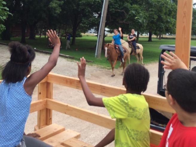 Horse riders!